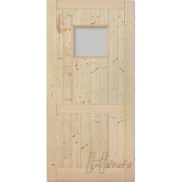 Palubkové dveře sklo 50/40 s příčkou