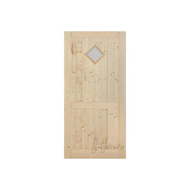 Palubkové dveře koso sklo s příčkou