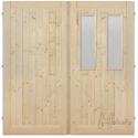 Palubkové dveře dvoukřídlé sklo