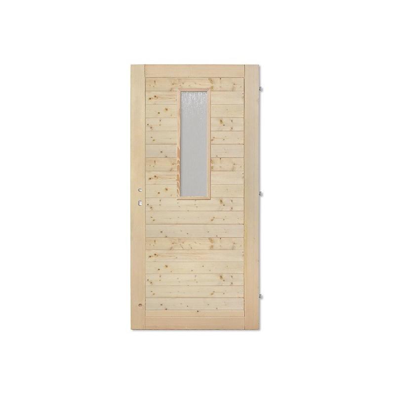 Palubkové dveře vodorovne sklo