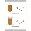 Palubkové dveře vodorovné vertikal