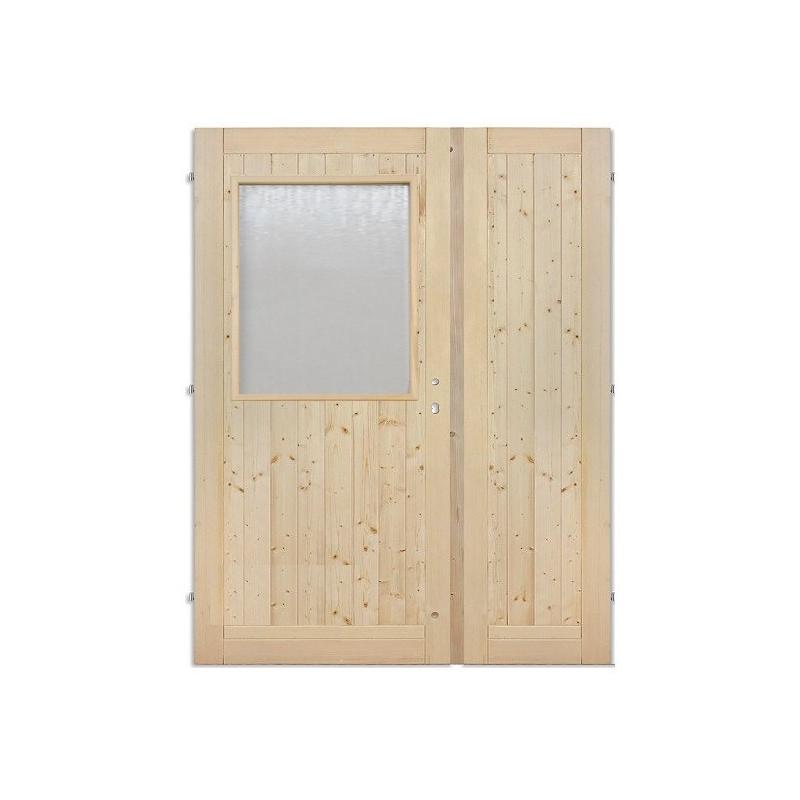 Palubkové dveře dvoukřídlé sklo dlouhe c