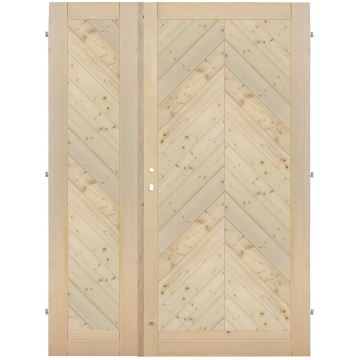 Palubkové dveře dvoukřídlé šikmé stromeček