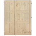 Palubkové dveře dvoukřídlé koso stromeček